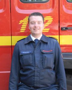 Brandmeister Sven Schlegel